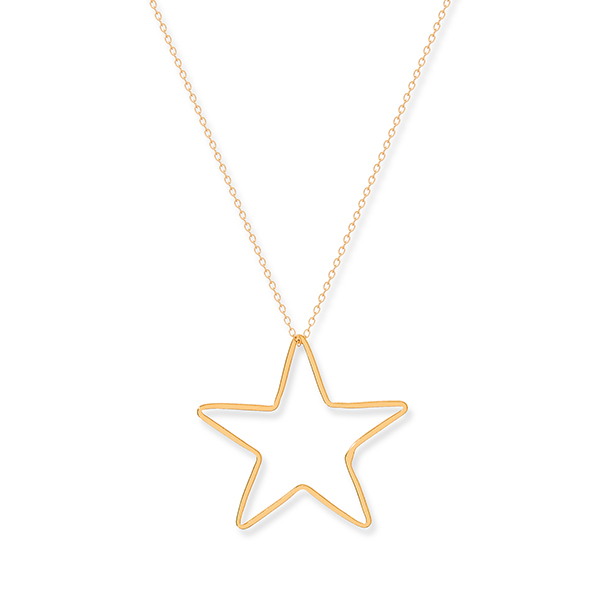Boho Betty Sterling Silver Star Necklace Gold