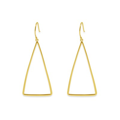 Boho Betty Sterling Silver Triangle Earrings