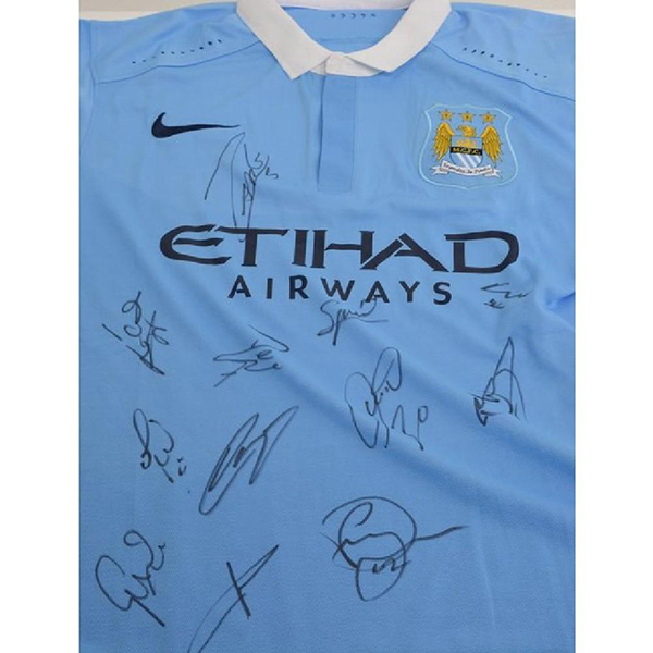 Manchester City FC Multi Signed Football Shirt No Colour