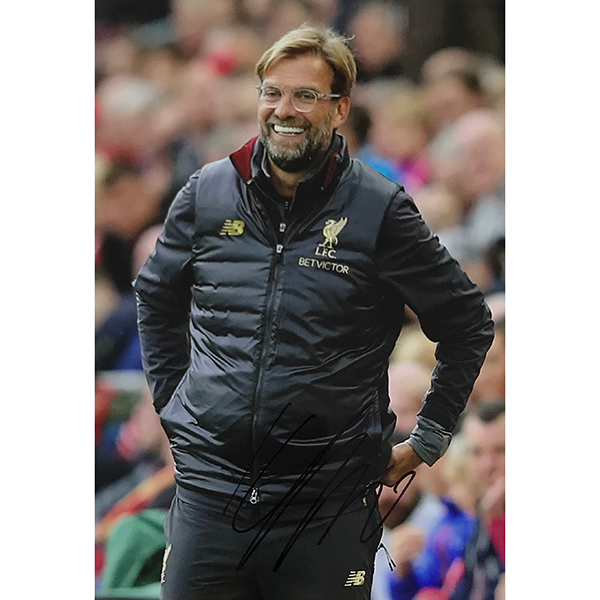 Jurgen Klopp Personally Signed Photo No Colour
