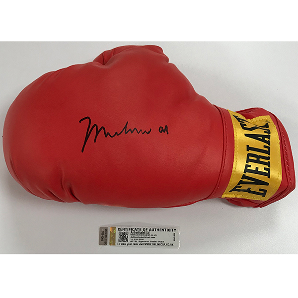 Muhammad Ali Personally Signed Boxing Glove with Special Hologram Certificate No Colour