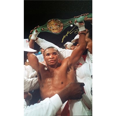Sugar Ray Leonard 16 x 12 Personally Signed Colour Photo