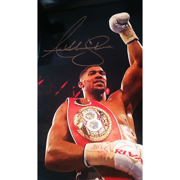 Anthony Joshua Personally Signed Colour Photo No Colour