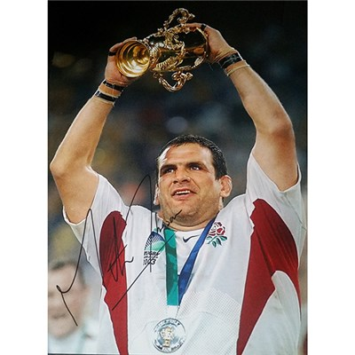 Martin Johnson 16x12 Personally Signed Photo of England World Cup Winning Captain