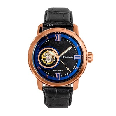 Heritor Gent's Automatic Maxim Watch with Genuine Leather Strap