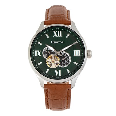 Heritor Gent�s Automatic Harding Watch with Genuine Leather Strap