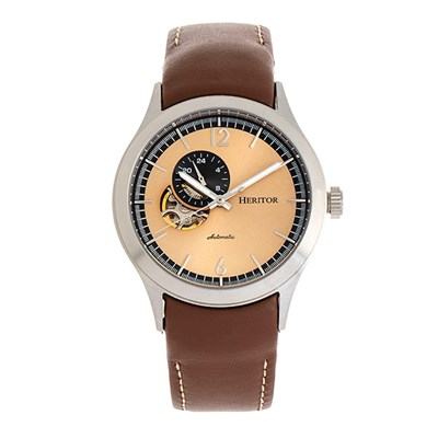 Heritor Gent's Automatic Antoine Watch with Genuine Leather Strap