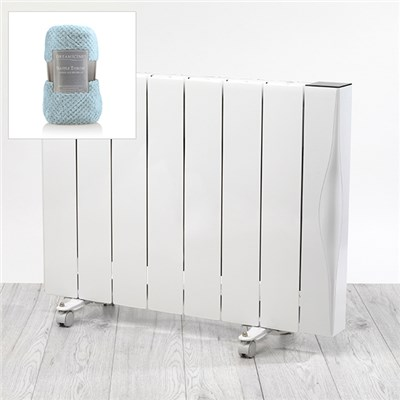 Beldray 2000W Ceramic Radiator with Deluxe Waffle Throw
