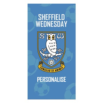 Sheffield Wednesday FC Crest Design Towel 70cm x 140cm