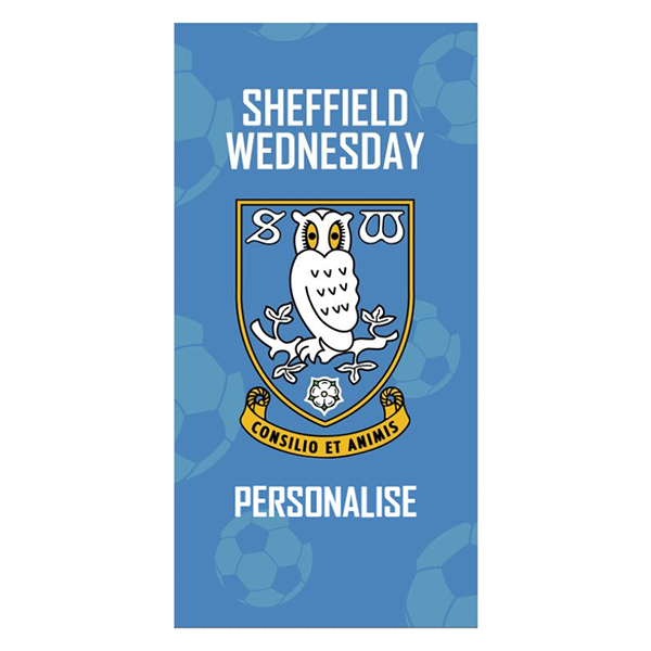 Sheffield Wednesday FC Crest Design Towel 70cm x 140cm No Colour