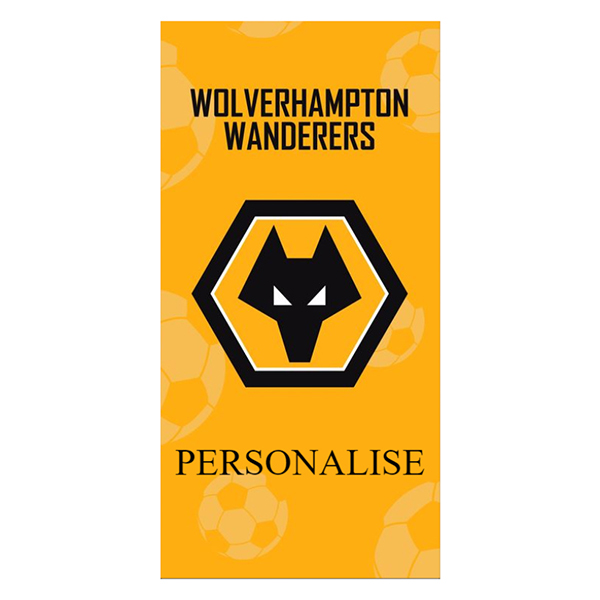 Wolves Crest Design Towel 70cm x 140cm No Colour