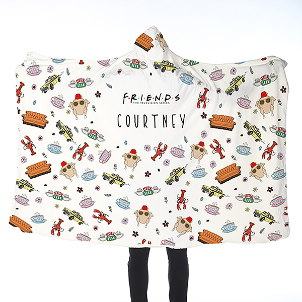 FRIENDS Patterned Adult Hooded Blanket No Colour