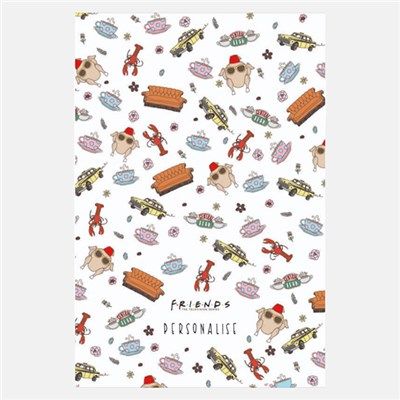 FRIENDS Pattern Fleece Blanket