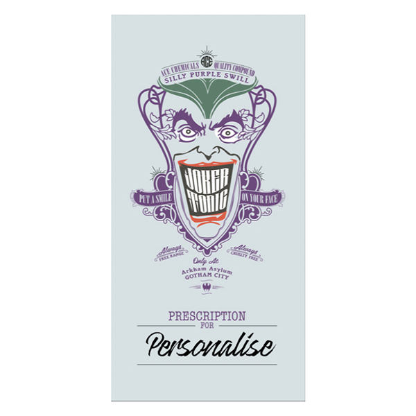 Batman Villains Joker Tonic Towel No Colour