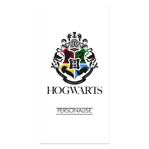 Harry Potter Towel Hogwarts Crest No Colour