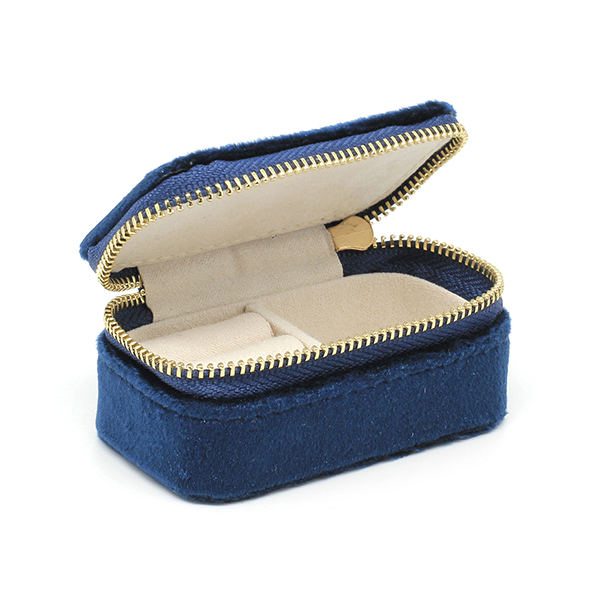 Carlotta Navy Velvet Mini Jewellery Box No Colour