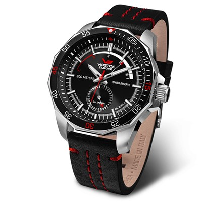 Vostok Europe Gent's Rocket N1 Stainless Steel Case Automatic Watch with Genuine Leather Strap