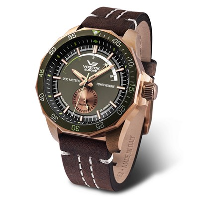 Vostok Europe Gent�s Rocket N1 Bronze Case Automatic Watch with Genuine Leather Strap