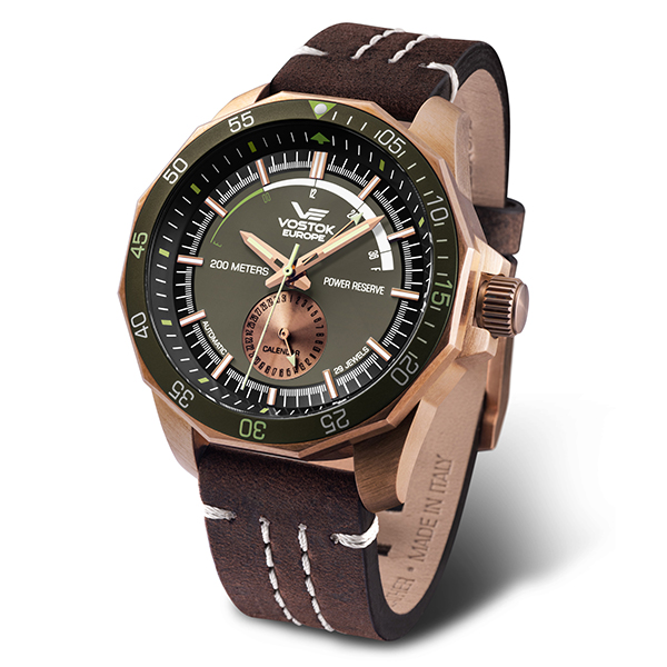 Image of Vostok Europe Gent's Rocket N1 Bronze Case Automatic Watch with Genuine Leather Strap