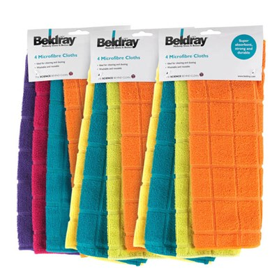 Beldray Microfibre Cloths 12 Pack