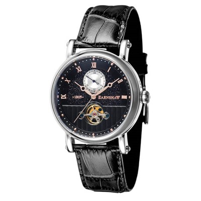 Thomas Earnshaw Gent's Maskelyne Automatic Watch with Genuine Leather Strap and Gift