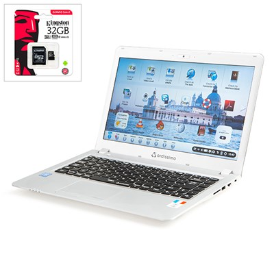 Ordissimo Agathe 2 14inch Laptop with Kingston 32GB MicroSD Card