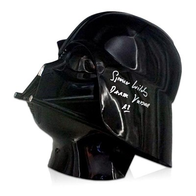 Star Wars Darth Vader Helmet Signed by Spencer Wilding, Rogue One Darth Vader