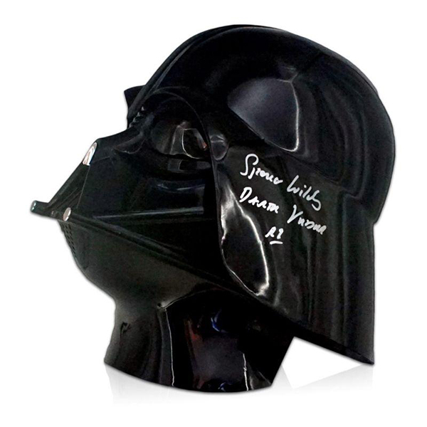 Star Wars Darth Vader Helmet Signed by Spencer Wilding, Rogue One Darth Vader No Colour
