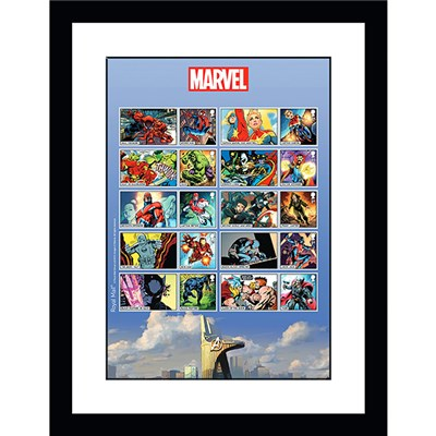 Marvel Framed Characters Official Stamps Sheetlet