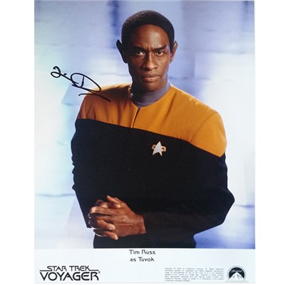 Tim Russ as Tvok Personally Signed Colour Photo