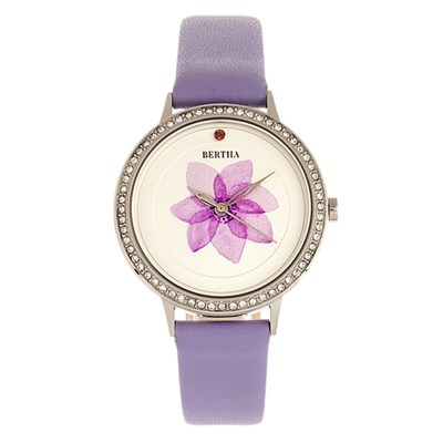 Bertha Ladies' Delilah Watch with Genuine Leather Strap