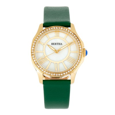 Bertha Ladies' Donna Watch with Genuine Leather Strap