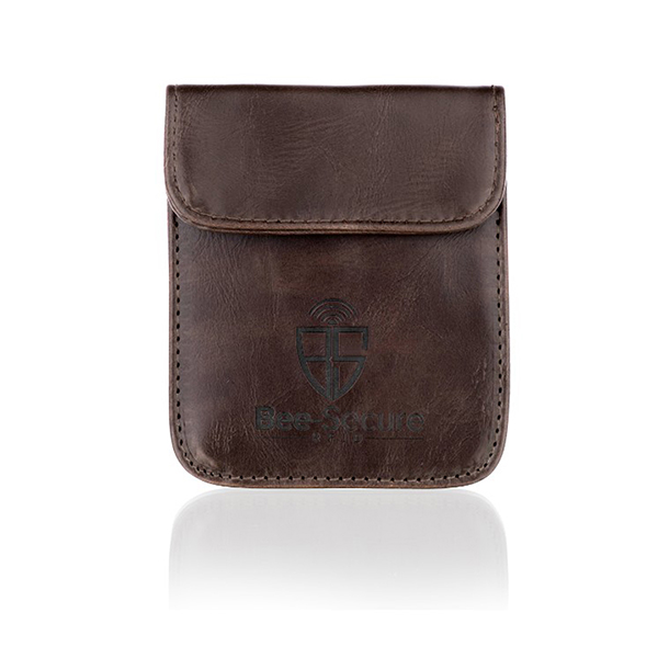 Image of Bee-Secure Key Pouch Brown PU Leather