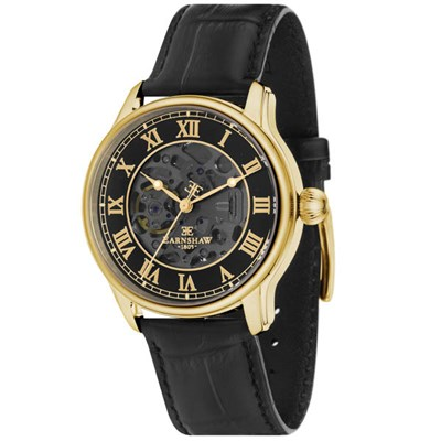 Thomas Earnshaw Gent's Longitude Automatic Watch with Genuine Leather Strap and Gift