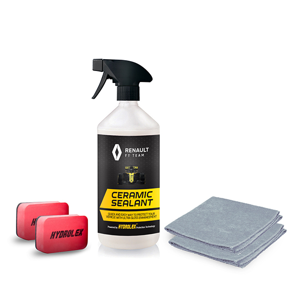 Renault RF1 Hydrolex 500ml Ceramic Sealant, Applicators and Microfibre Cloths No Colour