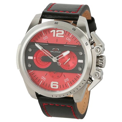 deLorean Gent's Limited Edition Automatic Double Valve Watch with Genuine Leather Strap