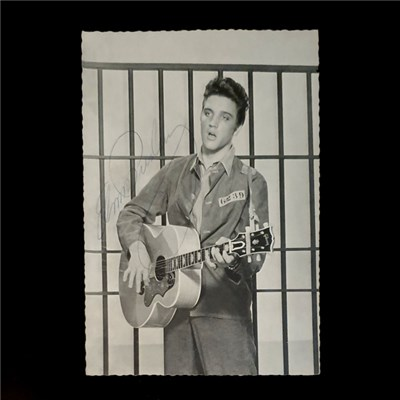 Elvis Presley Personally Signed Framed Classic Black & White Photo