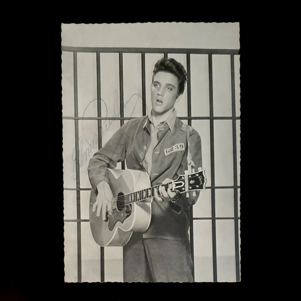Elvis Presley Personally Signed Framed Classic Black & White Photo No Colour