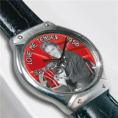 Elvis Presley Love Me Tender Collectors Quartz Watch with Image of Elvis in Display Box
