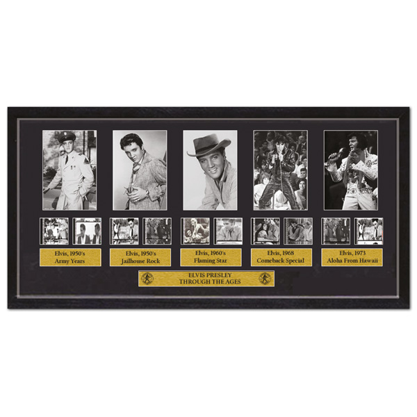 Elvis Presley Through the Ages Framed Photo Film Cell Collection No Colour