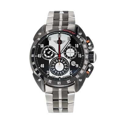 Mini Gent's Swiss Quartz PVD Multifunction Chronograph Watch with Two-Tone Stainless-Steel Bracelet