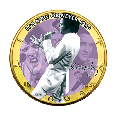 Elvis Presley It's Now or Never Original Collectors Coin