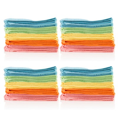 Microfibre Cloths Twin Pack (40 Cloths Total)