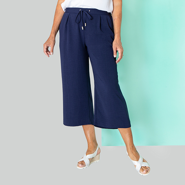 Kasara Crop Trouser Navy