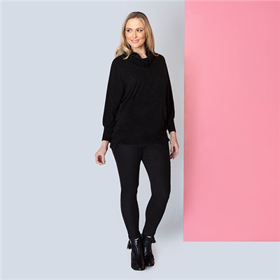 Nicole Cosy Cowl Neck Pocket Top