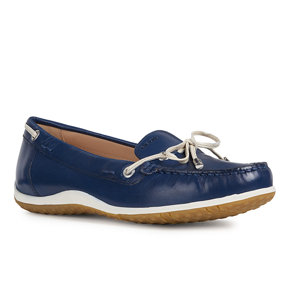 Geox Vega Leather Loafer Navy