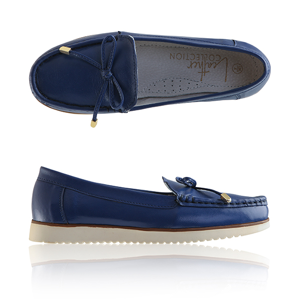 Leather Collection Moccasins Indigo