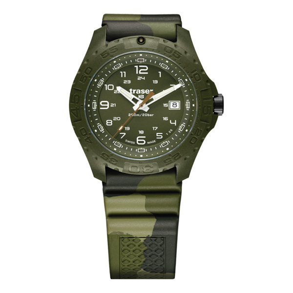 Traser Gent's Swiss P96 Soldier Watch with Camouflage Silicone Strap No Colour