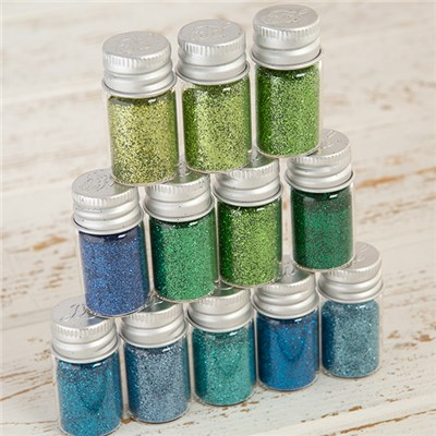 Hunkydory Diamond Sparkles Ultra-Fine Glitter - Blues and Greens Collection