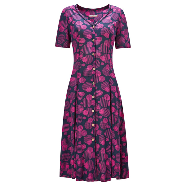 Joe Browns Perfect Button Through Dress Navy/Pink